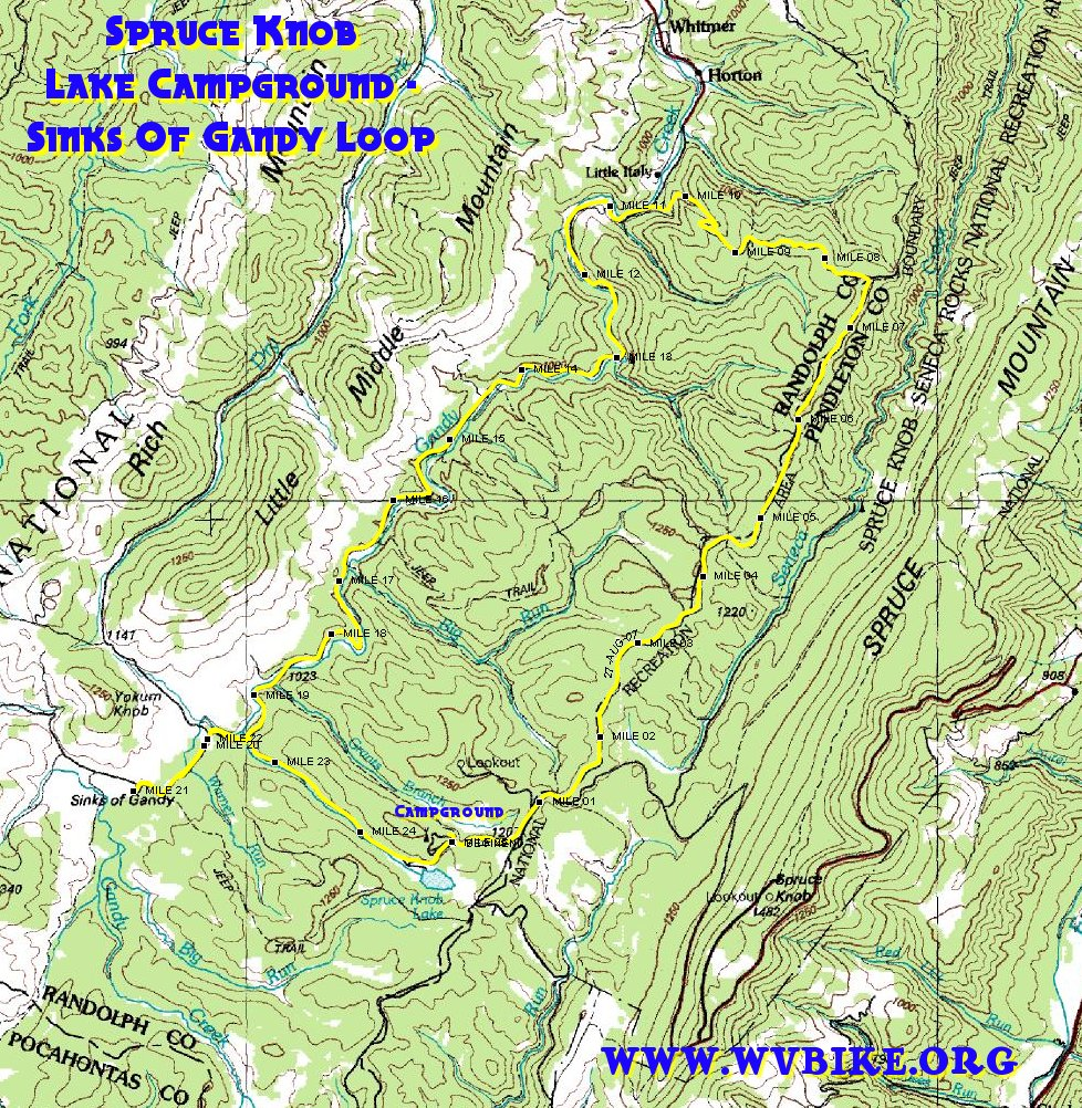 Maps And Aerial Photos Of Spruce Knob Lake Campground Sinks Of - Wv maps