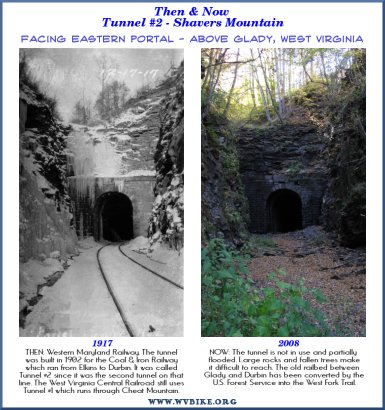 Western Maryland Railway - Tunnel #2 - Near Glady, West Virginia - 1917