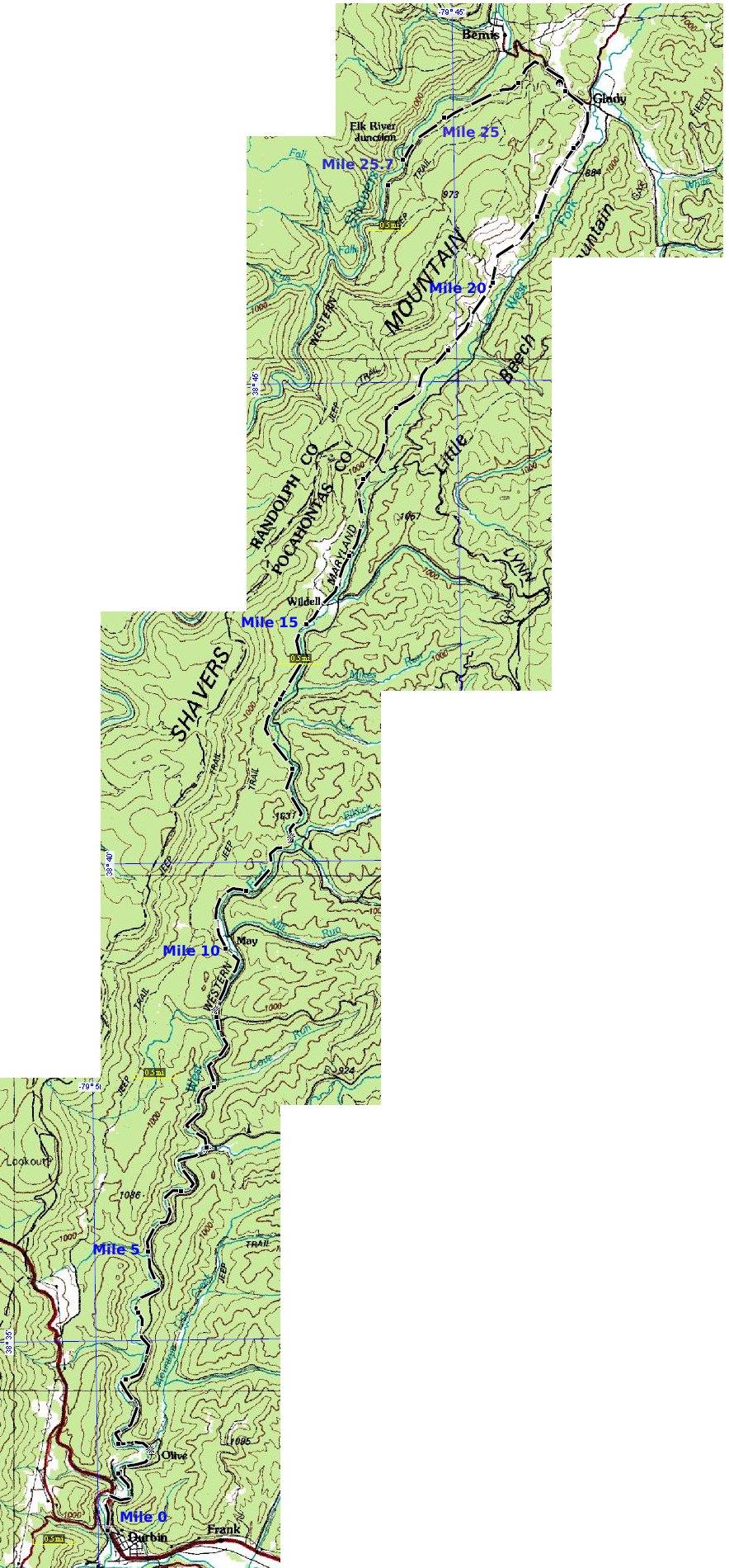 West Fork Trail Maps